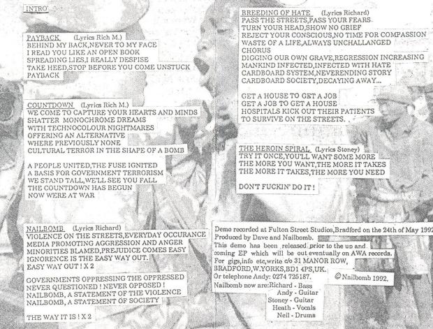 Nailbomb lyrics