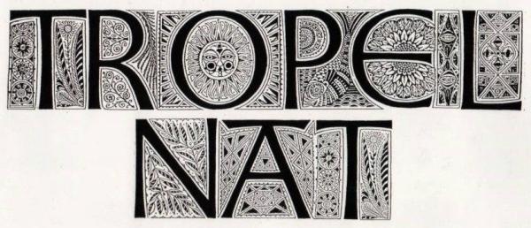 Tropel Nat lettering