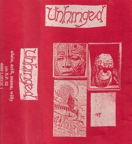 Unhinged 1st demo cover red